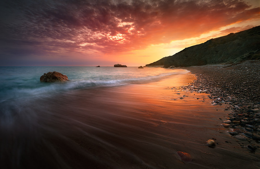 sunsets stunning sunset sunrise beach photograph water 500px spectacular photographing tips sunrises digital sky tomasz cyprus photographs amazing ends rock