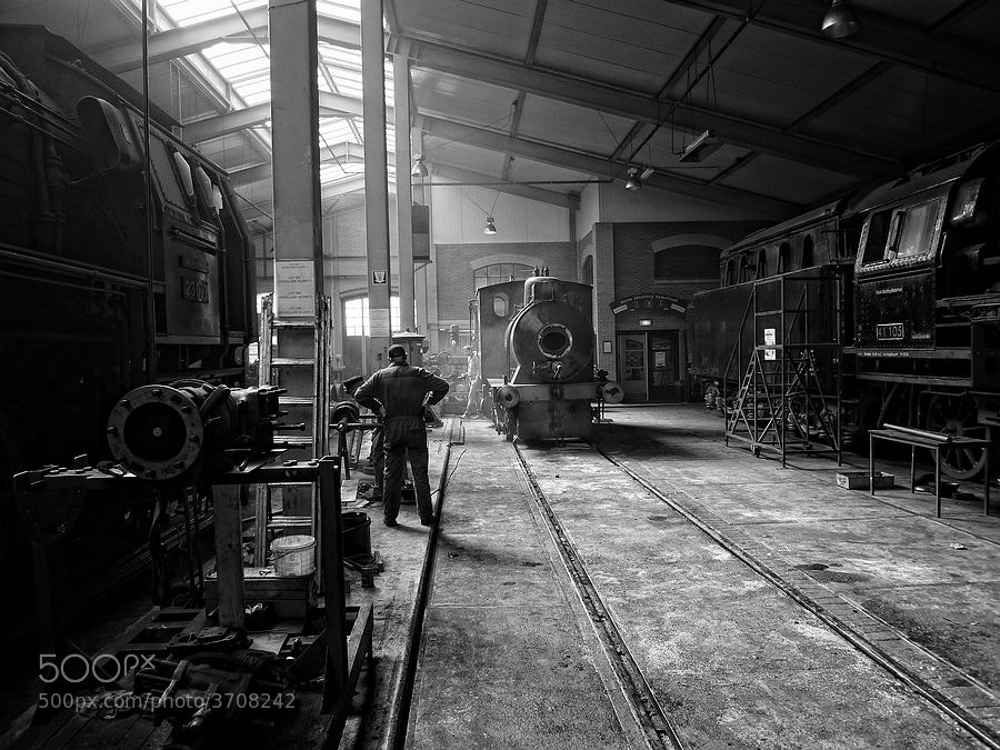 Photograph Steam Shed Rotterdam by Piet Osefius on 500px