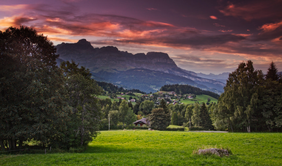 Mégève sunset Alpes