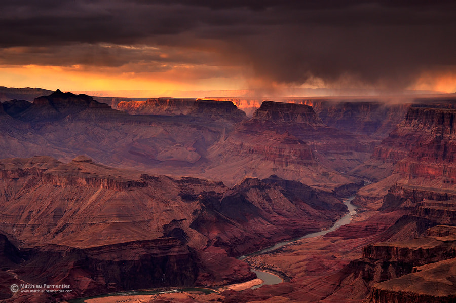 Photograph A storm at sunset by Matthieu Parmentier on 500px