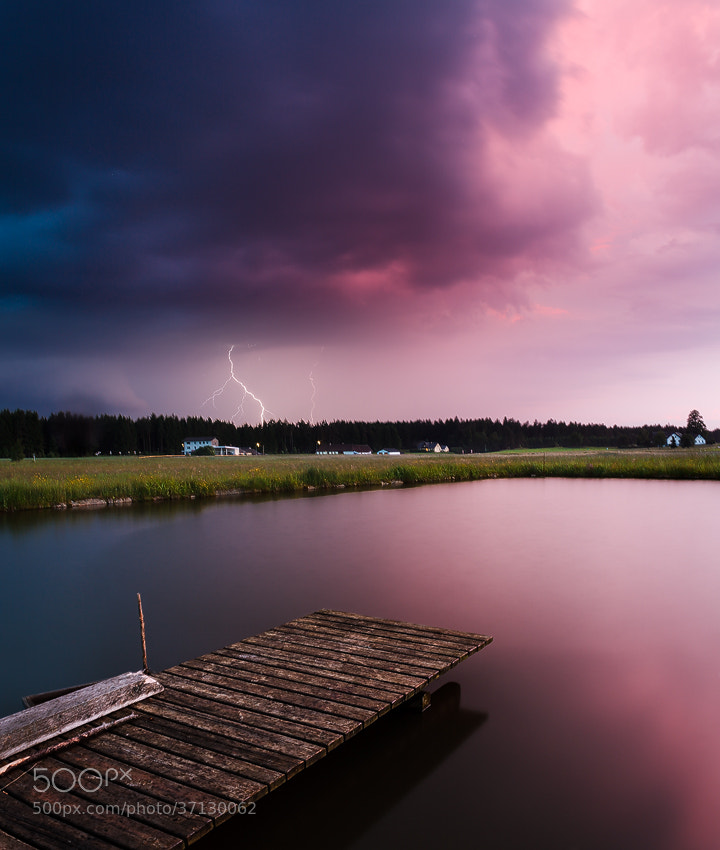 Photograph Thunderstorm at Sunset by Benjamin Butschell on 500px