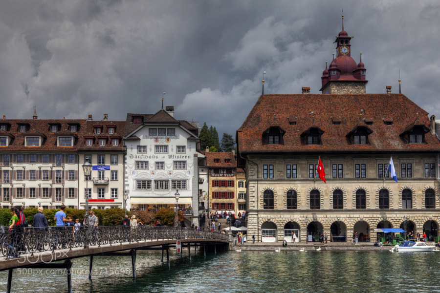 City Hall Bridge, Luzern, Switzerland