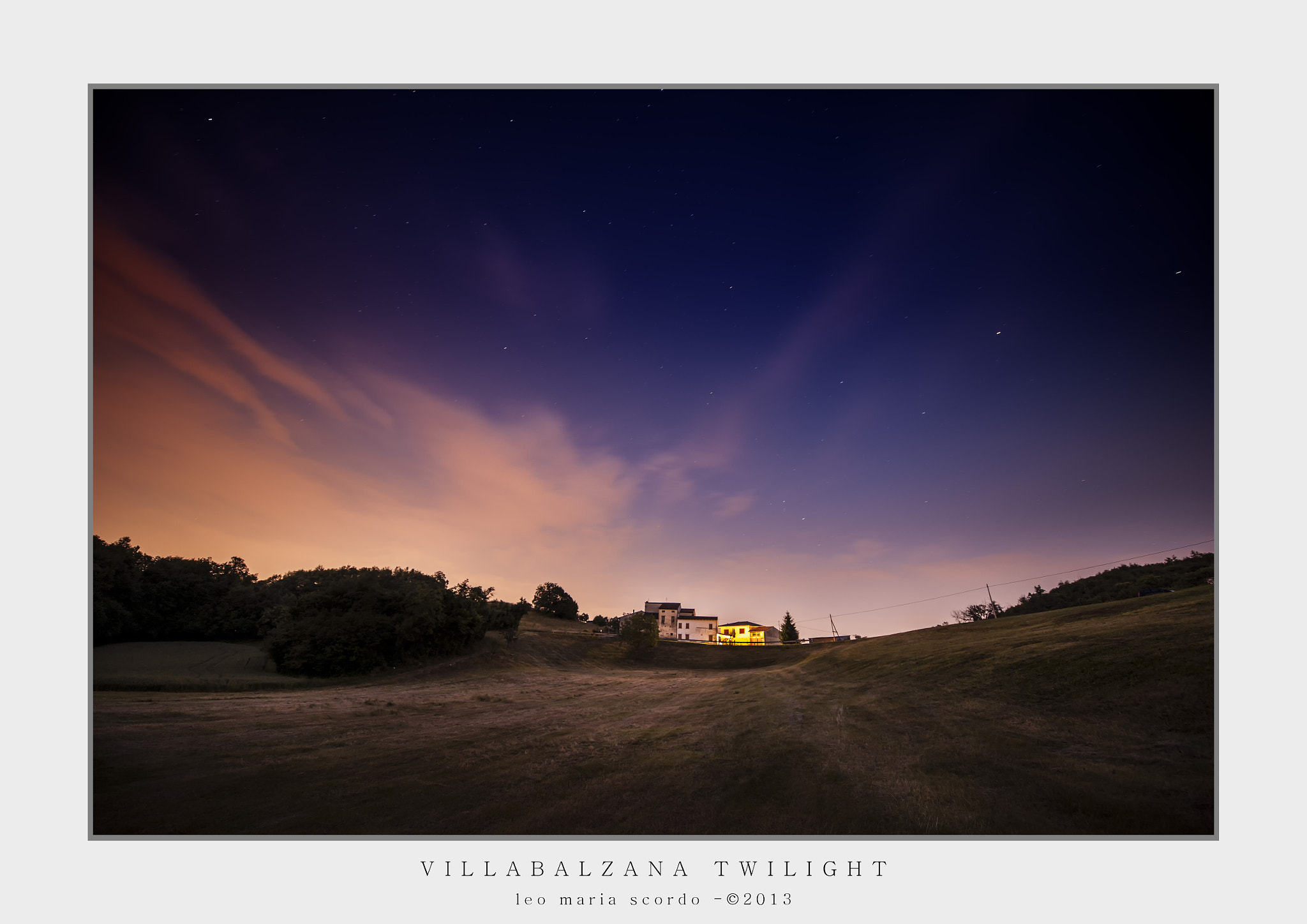 Photograph VILLABALZANA TWILIGHT by Leo Maria Scordo on 500px