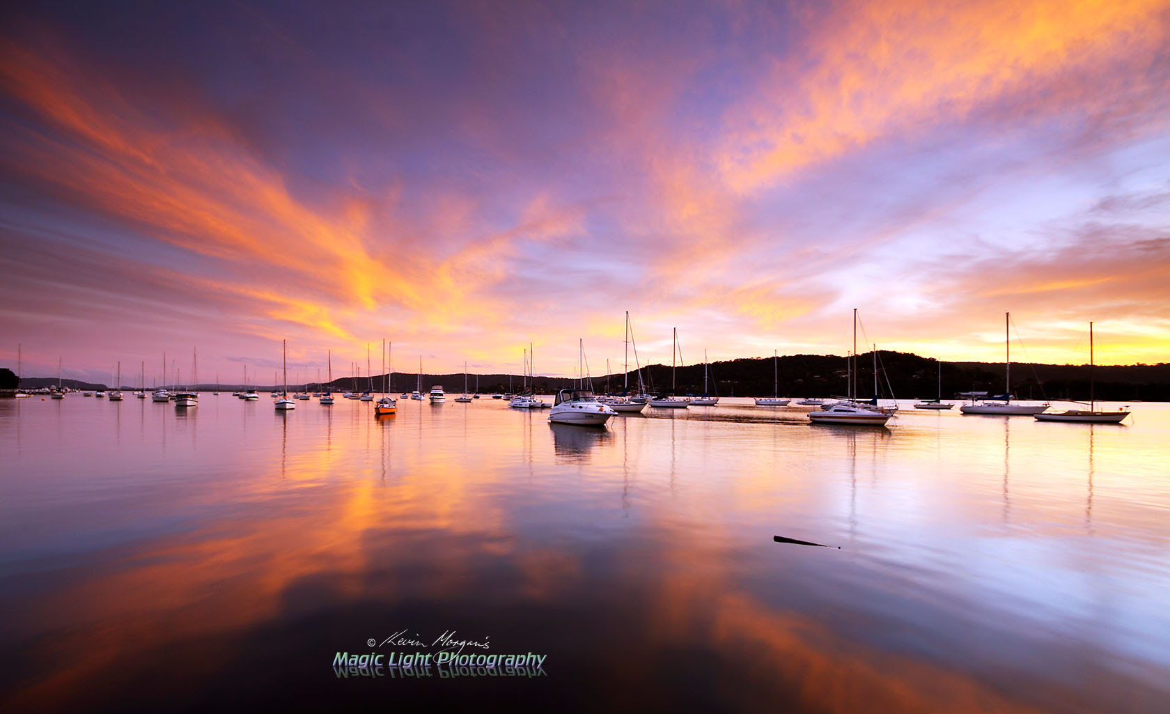 Photograph Sunset at Gosford Sailing Club by Kevin Morgan on 500px