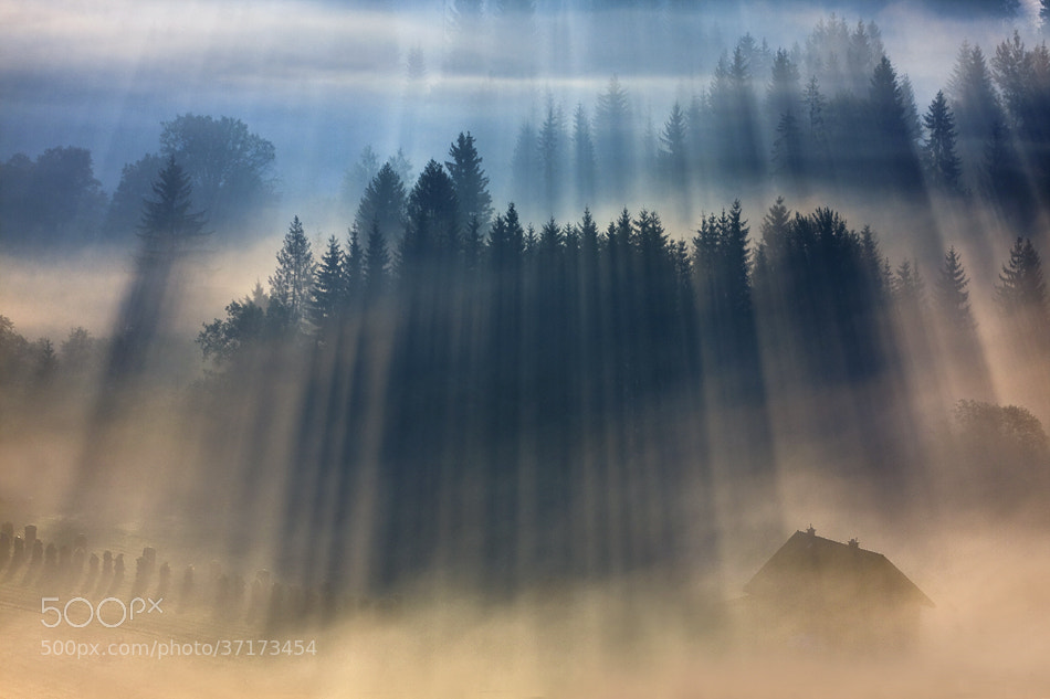 Photograph House in calm valley by Marcin Sobas on 500px