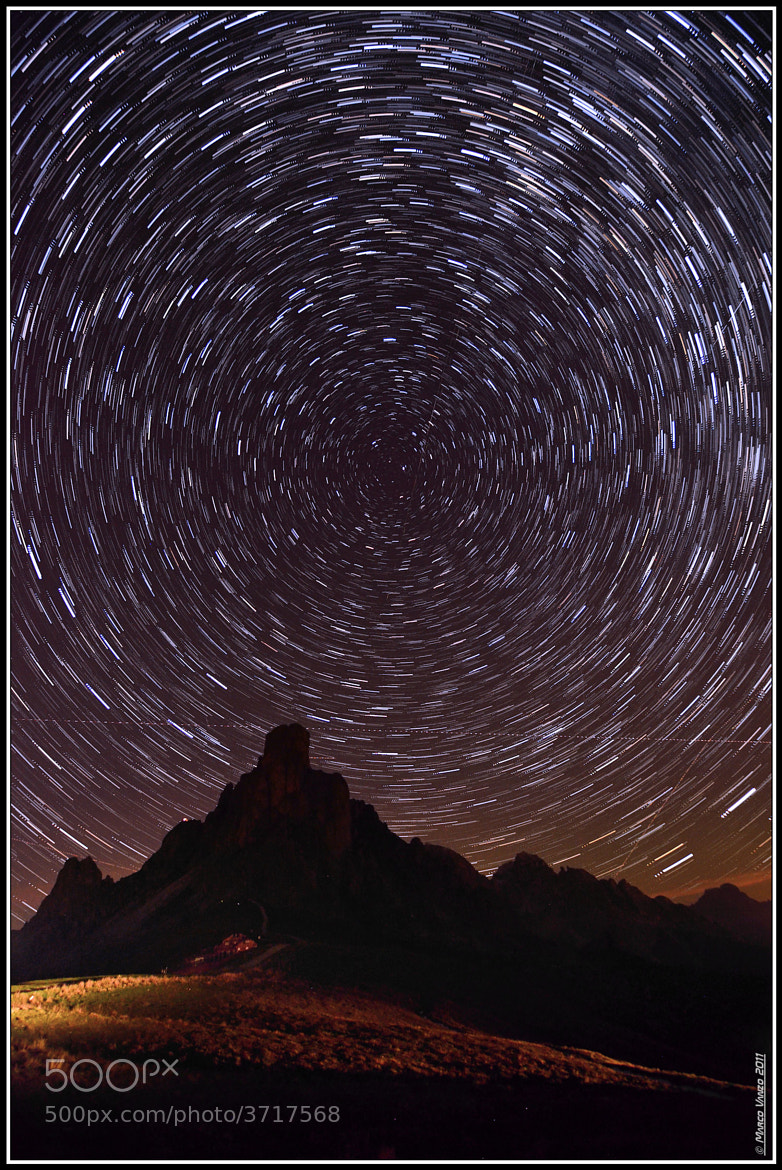Photograph Startrails over Ra Gusela by Marco Vanzo on 500px