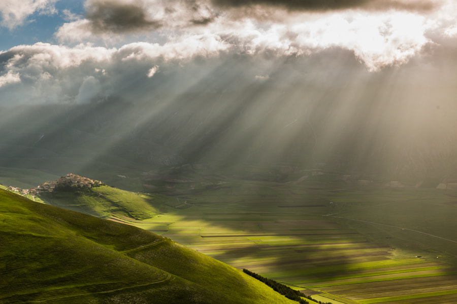 Photograph Castelluccio in morning sun rays. by Hans Kruse on 500px