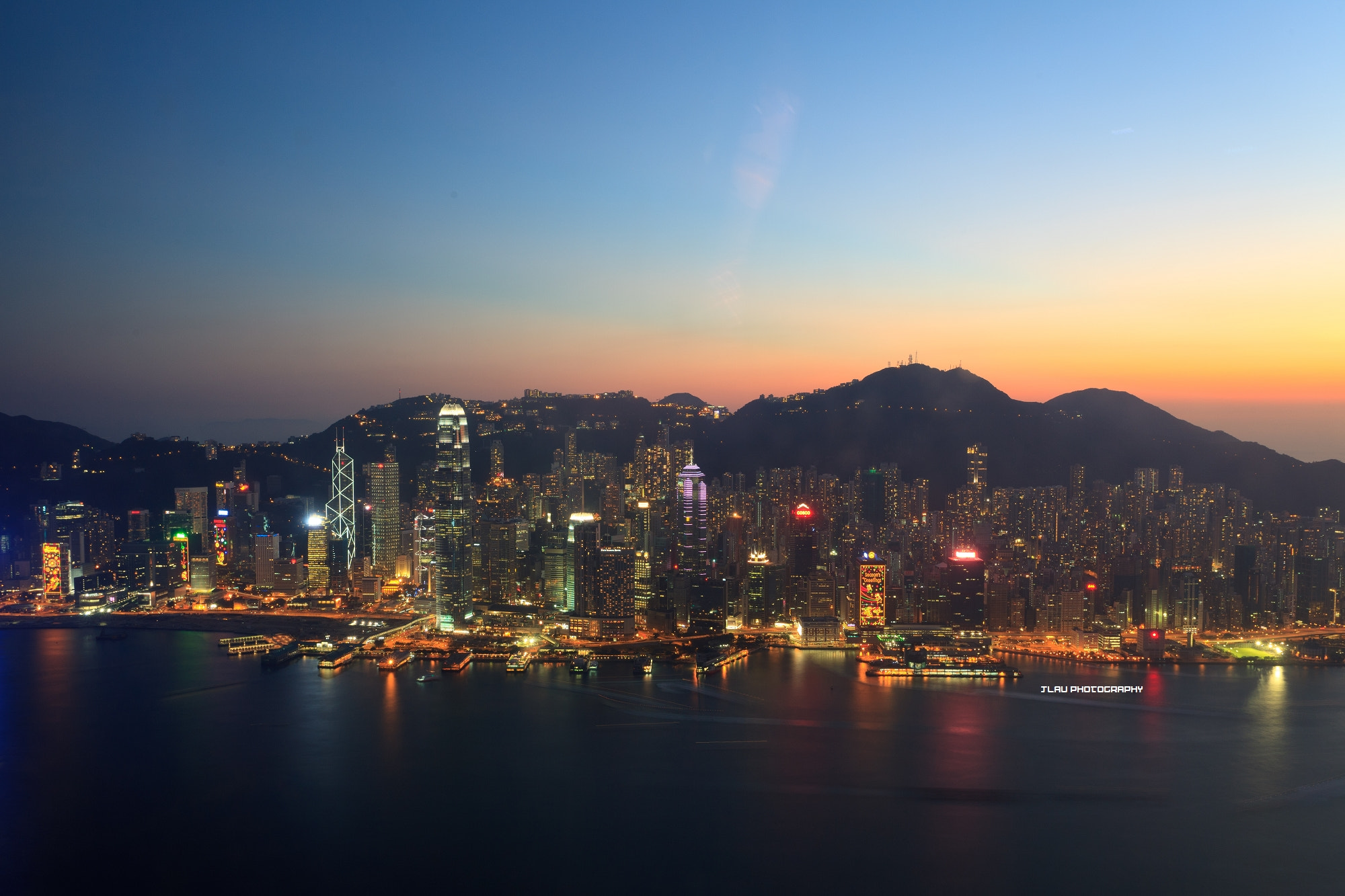 Photograph After sunset, Hong Kong by JLau | HK on 500px