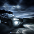 Постер, плакат: Car Rig Shoot Mitsubishi Outlander VRX