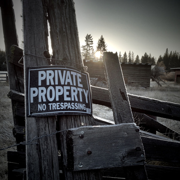 Private Property Series - Sign and Sun