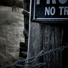 Private Property Series - Sign and Barb Wire