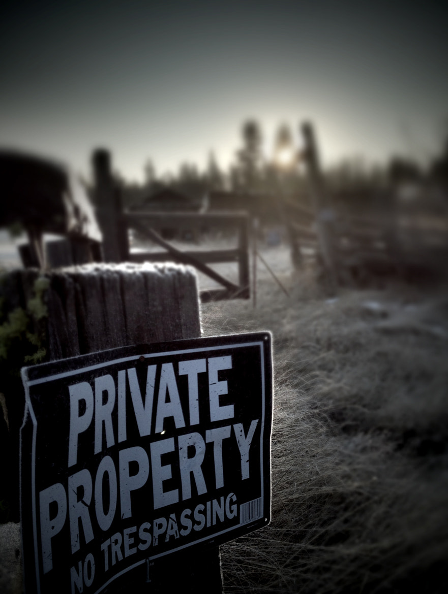 Photograph Private Property Series - Sign and Mist by Michael Clawson on 500px