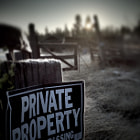 Private Property Series - Sign and Mist