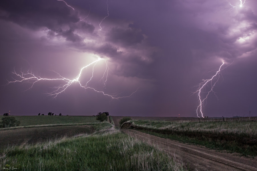 Road to Nowhere... Lightning by Aaron J. Groen on 500px.com