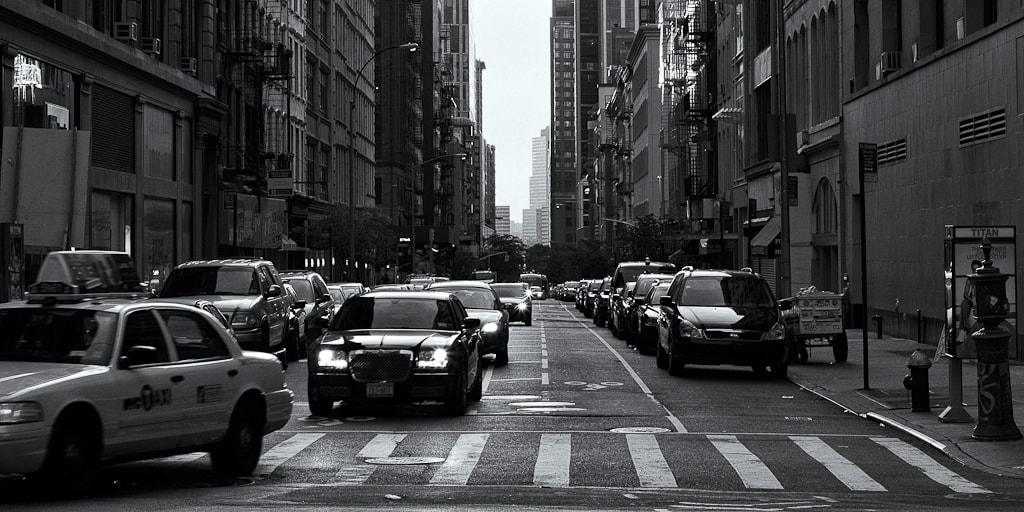 Photograph Normal Traffic Downtown by Gustavo Castillo on 500px