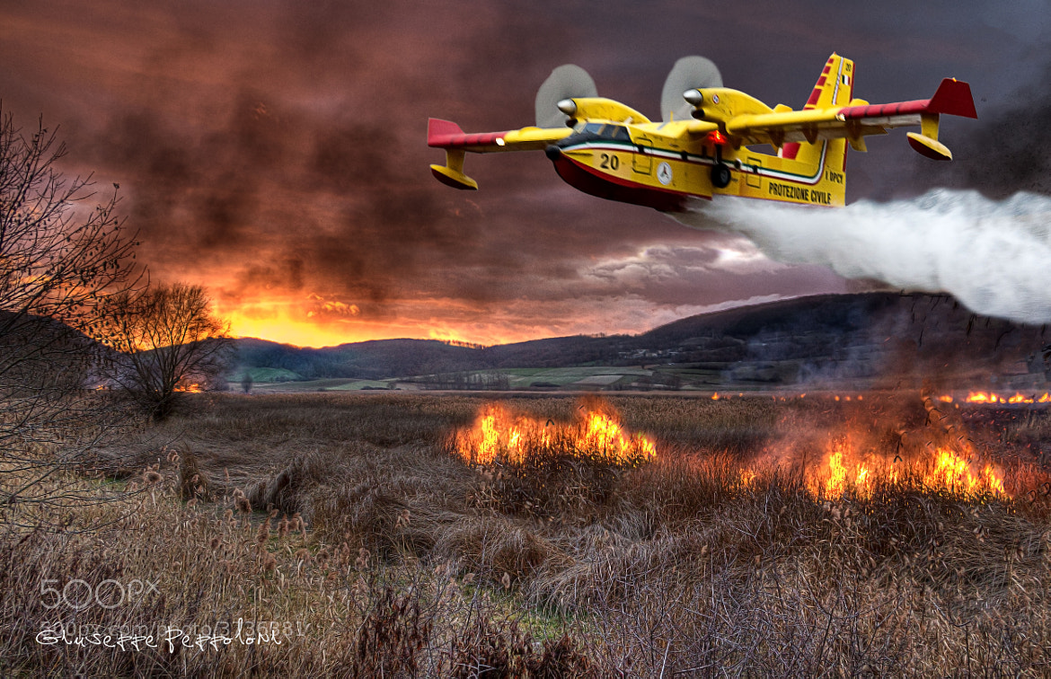 Photograph Canadair CL415 in action ♣ by Giuseppe  Peppoloni on 500px