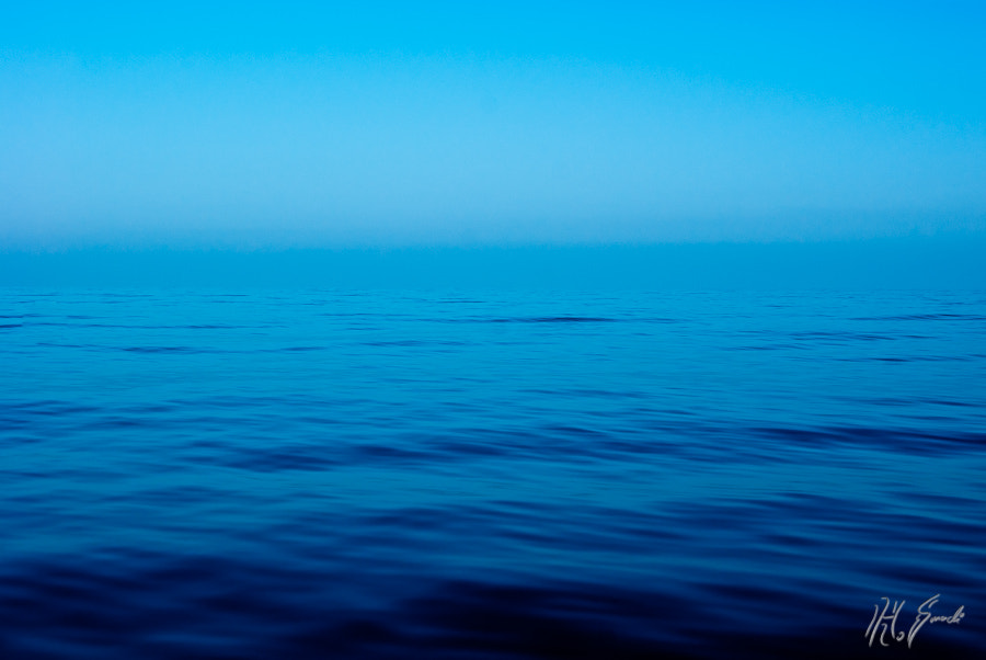 into the blue....