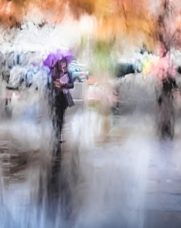 Girl with a Purple Umbrella