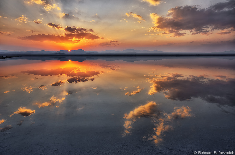Photograph Sunset on the Lake by Behnam Safarzadeh on 500px
