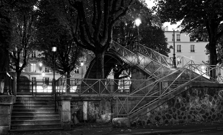 Stairs of Canal Saint Martin Paris