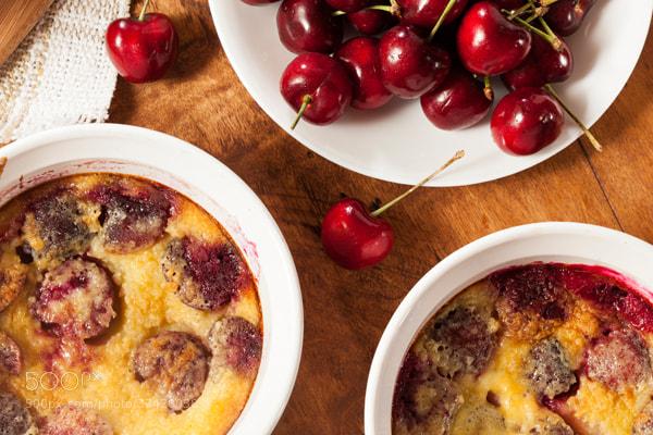 Photograph Organic Cherry Cobbler Cake by Brent Hofacker on 500px