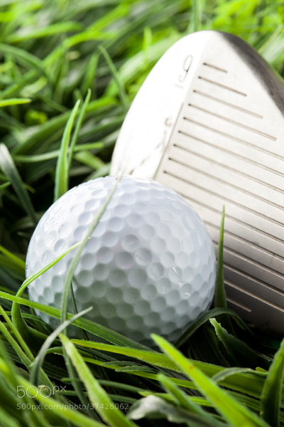 Photograph Pure White Golfball on green grass by Brent Hofacker on 500px