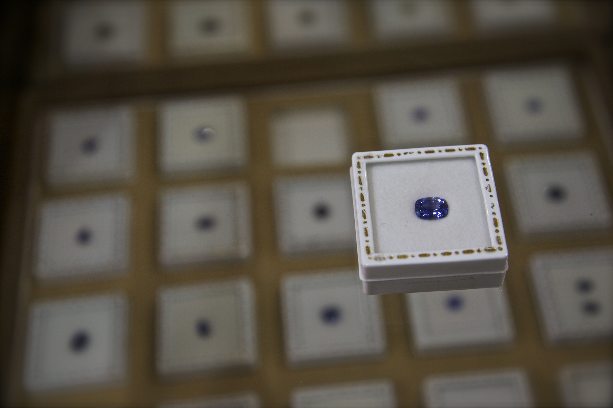 Photograph blue sapphire boxed by Venkatesh Murthy on 500px