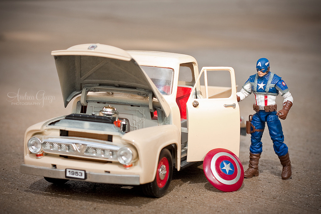 Photograph Captain America. A man of many talents. by Andrea Garza on 500px
