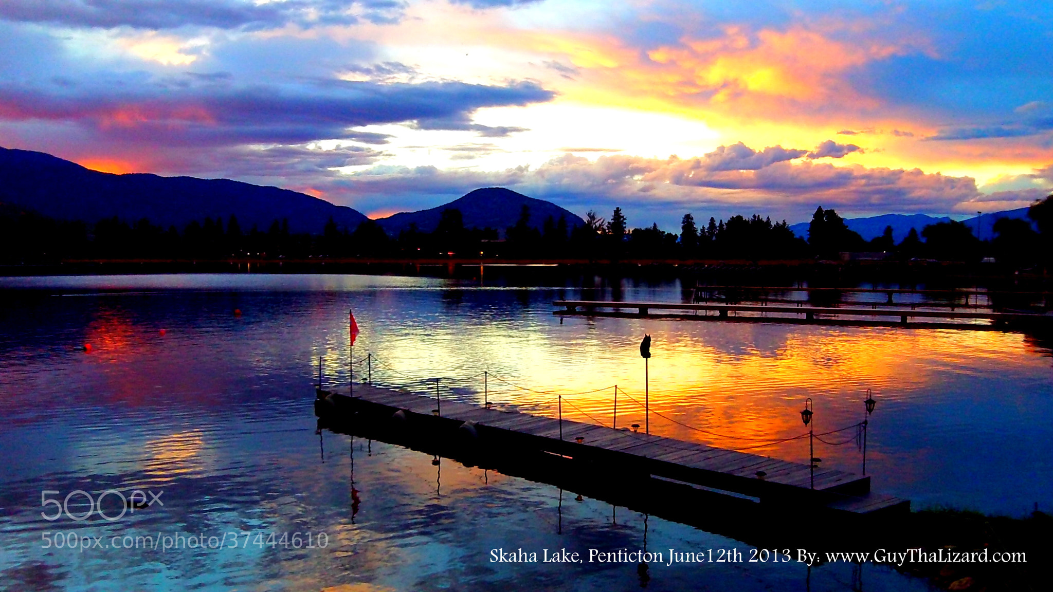 Photograph Skaha Lake Sunset June12,2013 by Guy Hoffman on 500px