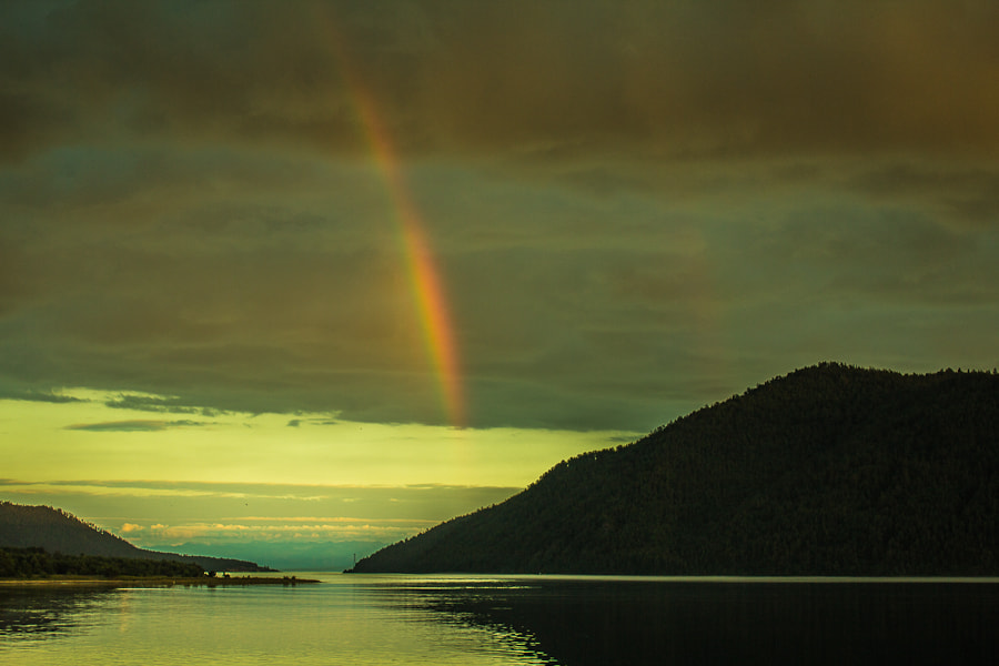 Photograph double rainbow. lake Baikal  by Dima Ave on 500px