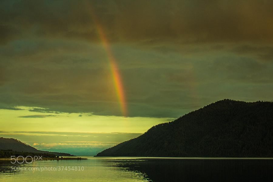 Photograph double rainbow. lake Baikal  by Dima Ave on 500px