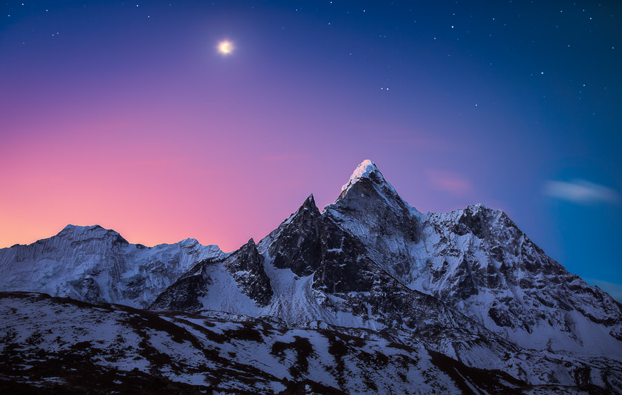 Photograph Dablam It On The Moonlight by Dylan Gehlken on 500px