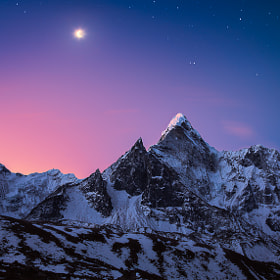 Dablam It On The Moonlight by Dylan Gehlken on 500px.com