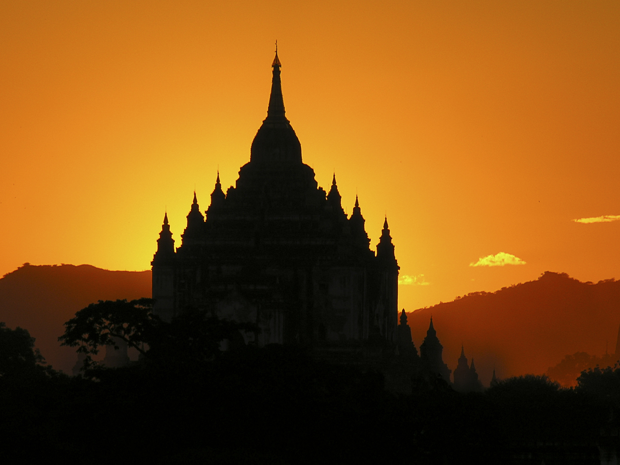 Photograph Sunset at Bagan by Mik Peach on 500px