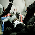 Постер, плакат: Hooliganism in football