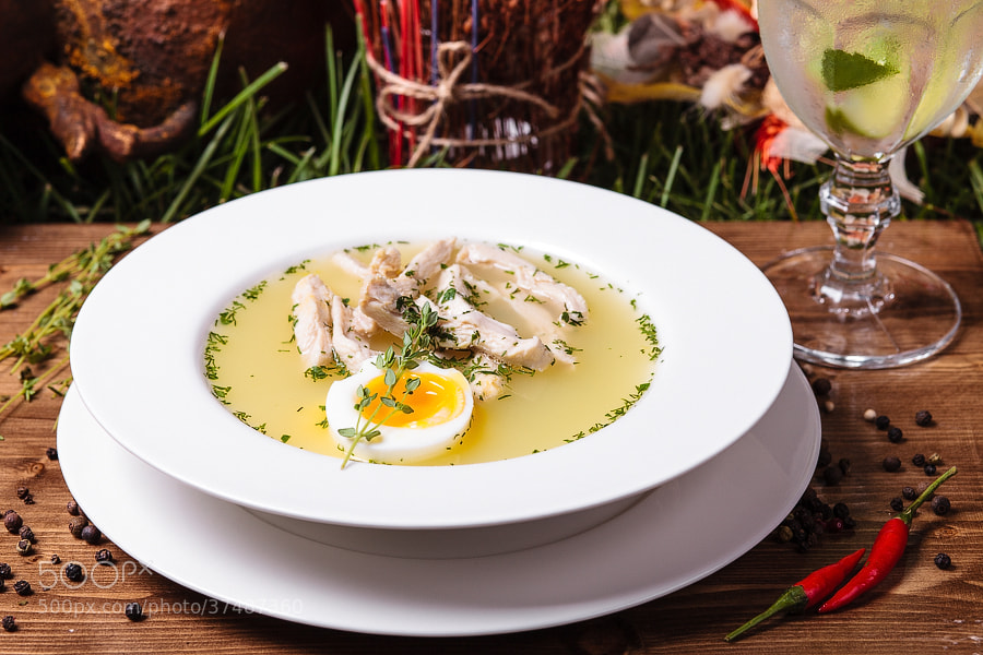 Photograph Chicken noodle soup by Sergey Adamoff on 500px