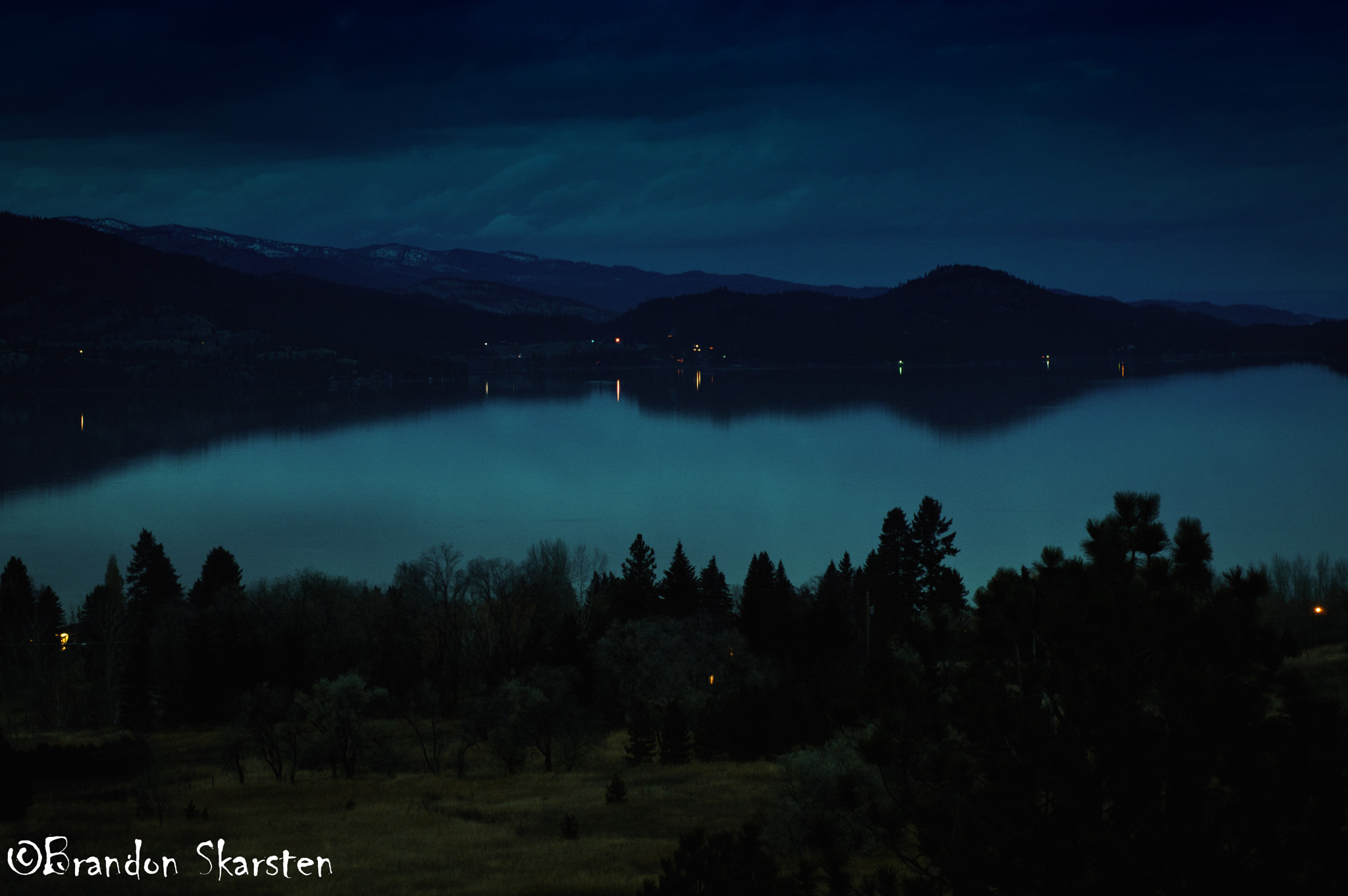 Photograph Flathead Lake at Night, MT by Brandon Skarsten on 500px