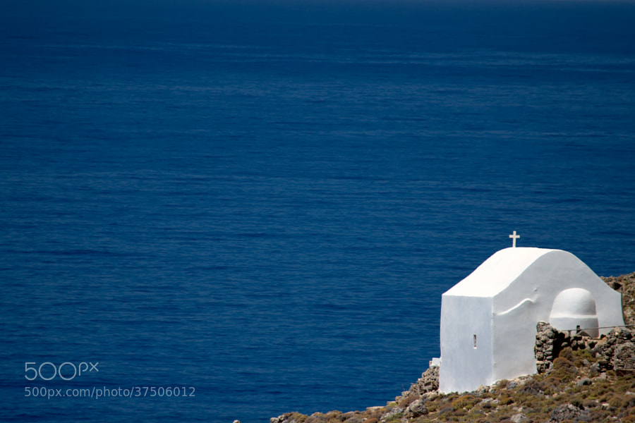 Photograph White Chapel Overlooking the Libyan Sea by Vicky Tsikina on 500px