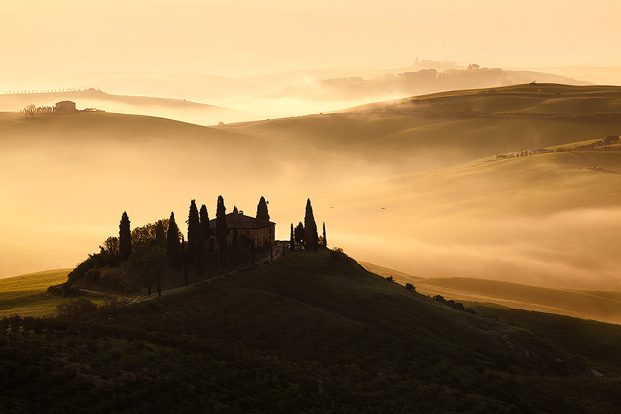 Photograph Italy – Tuscany dawn by Fabrizio Fenoglio on 500px