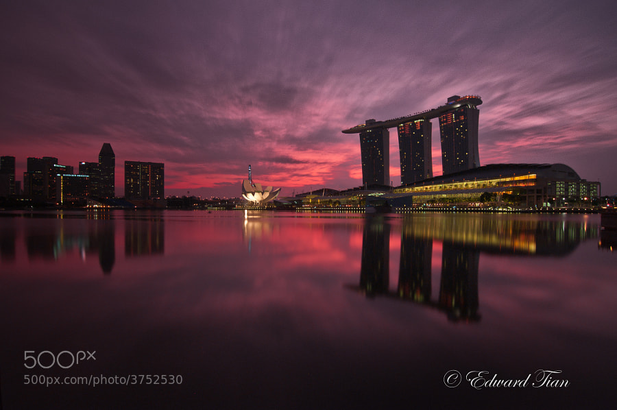 Photograph Marina Bay @ Dawn by Edward Tian on 500px