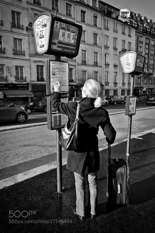 Photograph Arrêt de bus by patrick plazzi on 500px