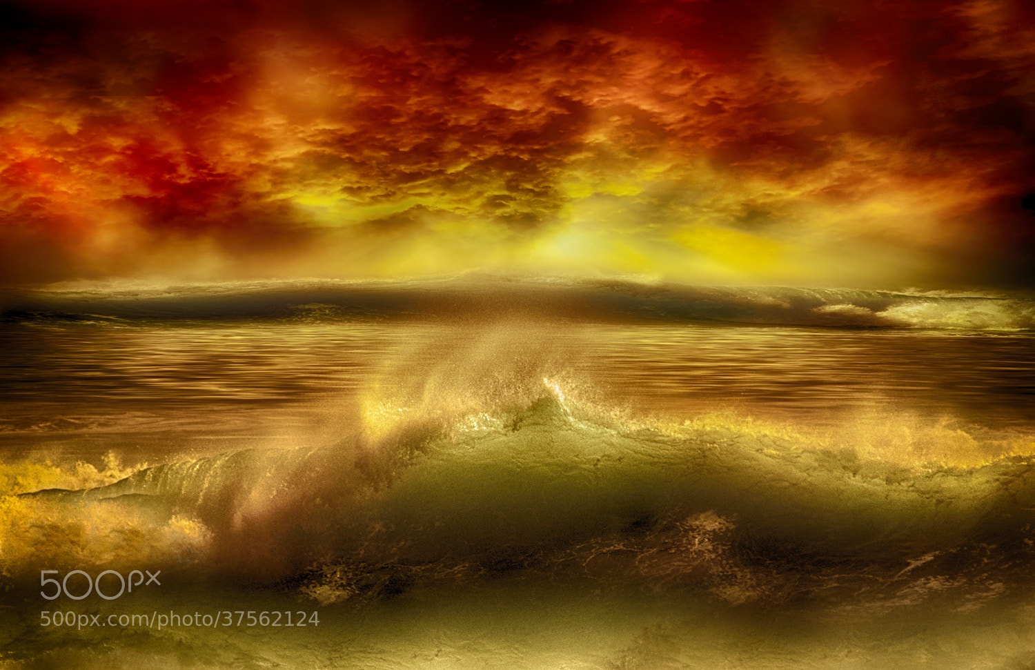 Photograph Wave sunset by michael agliolo on 500px