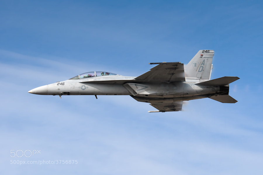 F/A-18F Super Hornet makes a high speed pass over NAS Pensacola. Nov 2011