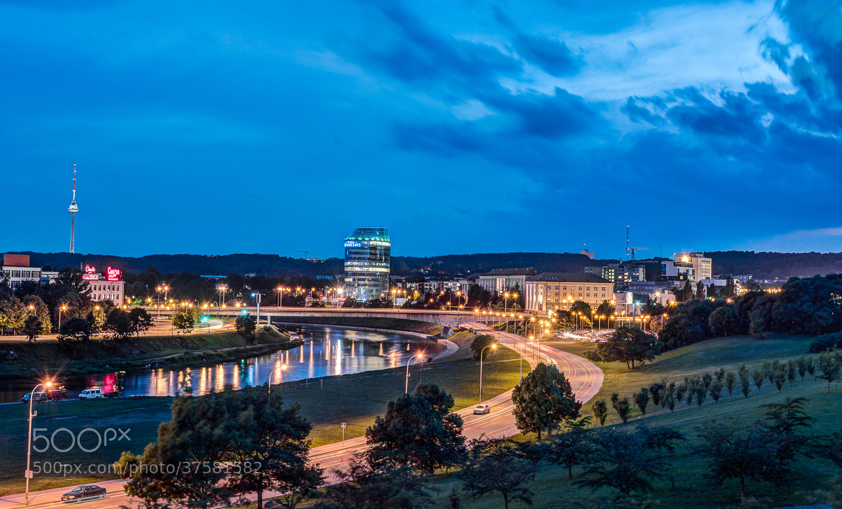 Photograph Vilnius at night by Norbert Durko on 500px