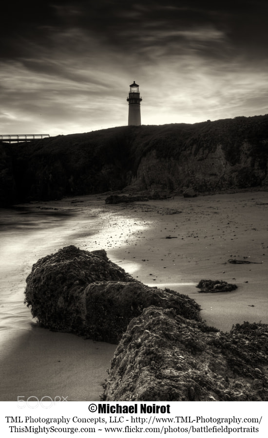 This is the historic Pigeon Point Lighthouse. Nestled along the Pacific Coast Highway, twenty miles south of Half Moon Bay, it is one of California's finest lighthouses.   Camera: Canon EOS 5D Mark II Lens: Canon EF 17-40 mm f4L USM Zoom: 40mm Shutter: 31 seconds Aperture: f/22 ISO: 200