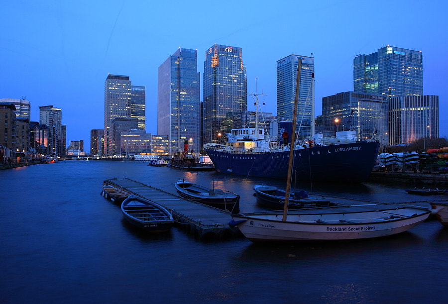 Pre-Dawn West India Docks