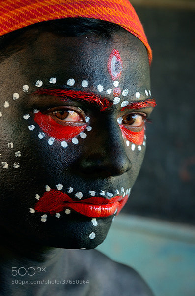 Photograph Face painting for Goddess Kali by Tarun Kumar Bhattacharya on 500px