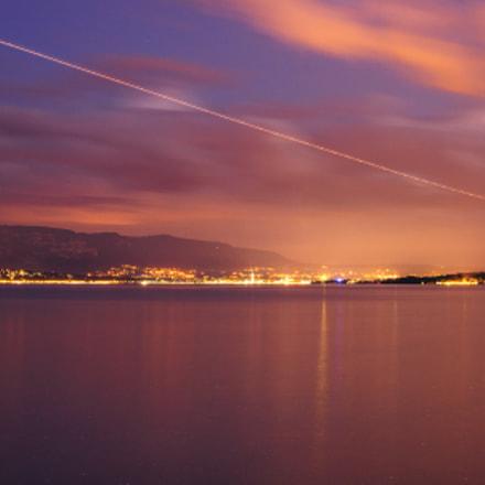 Leman Lake by night