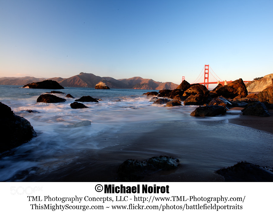 Marshall's Beach is located just south of the Golden Gate Bridge on the Pacific Ocean. This HDR image was taken late in the afternoon with a 1,000X B+W ND filter and processed with Photomatix Pro 4 software.  Camera: Canon EOS 5D Mark II Lens: Canon EF 17-40mm f4L USM Zoom: 32mm Shutter 180 second +/- 2 stops Aperture: f/16 ISO: 100
