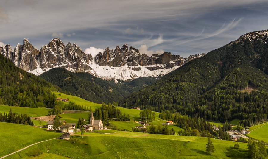 Photograph Santa Maddalena with clouds by Hans Kruse on 500px